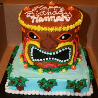 Tiki Cake Buttercream with chocolate deco