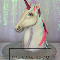 Unicorn Unicorn made from cake, modeling chocolate and fondant!