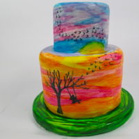 Watercolor Cake Hi Sweeties,I hope you like my latest cake, I loved making it because it was really easy to do and it was like painting on a canvas plus it...