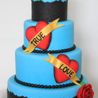 Weddingcake True Love A cool weddingcake for a sweet and cool couple