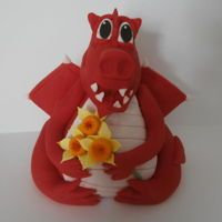Welsh Dragon Sugar paste model of a welsh dragon