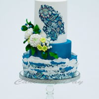 "William Morris ""wey"" Inspired Cake. I made the cake for Cake Central Magazine Volume 7, issue 1."