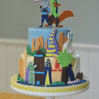 Zootopia Zootopia Cake. All decorations are made with modelling chocolate.
