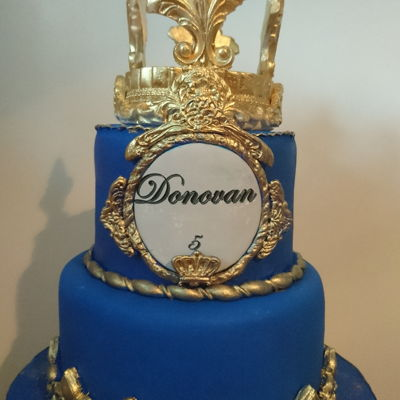 Donovan Cake Royal Cake Blue And Gold