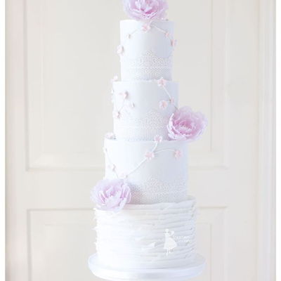 Elegant Soft Pink Weddingcake