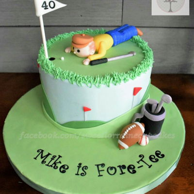 Fore-Tee Golf Cake