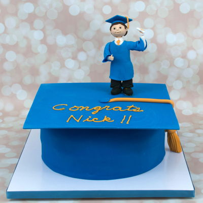 Graduation Cap And Figure