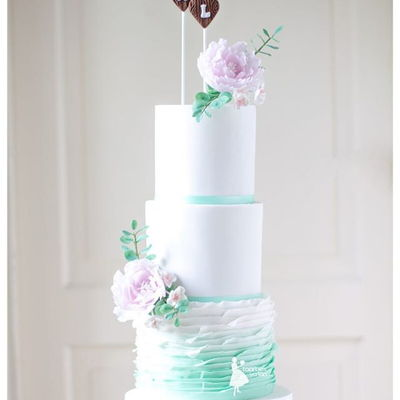 Green Ombre Weddingcake