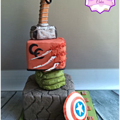 Mixed Superhero Cake
