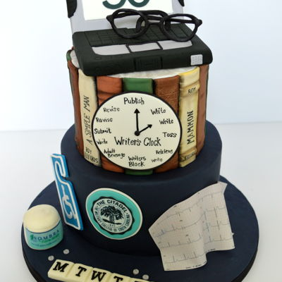 Personalized Book Cake