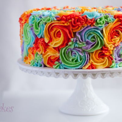 Rainbow Swirl Birthday Cake By 2Bi Cakes