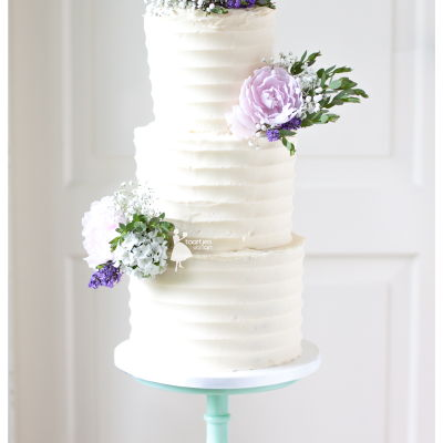 Romantic Wedding Cake With Frosting