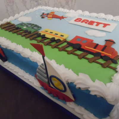 Toddler's Transportation Cake
