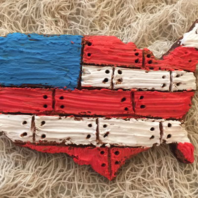 Usa Planked Map Chocolate Cookie