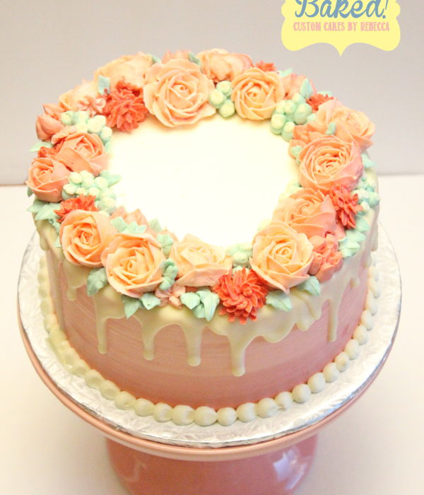 Buttercream Floral Wreath Cake