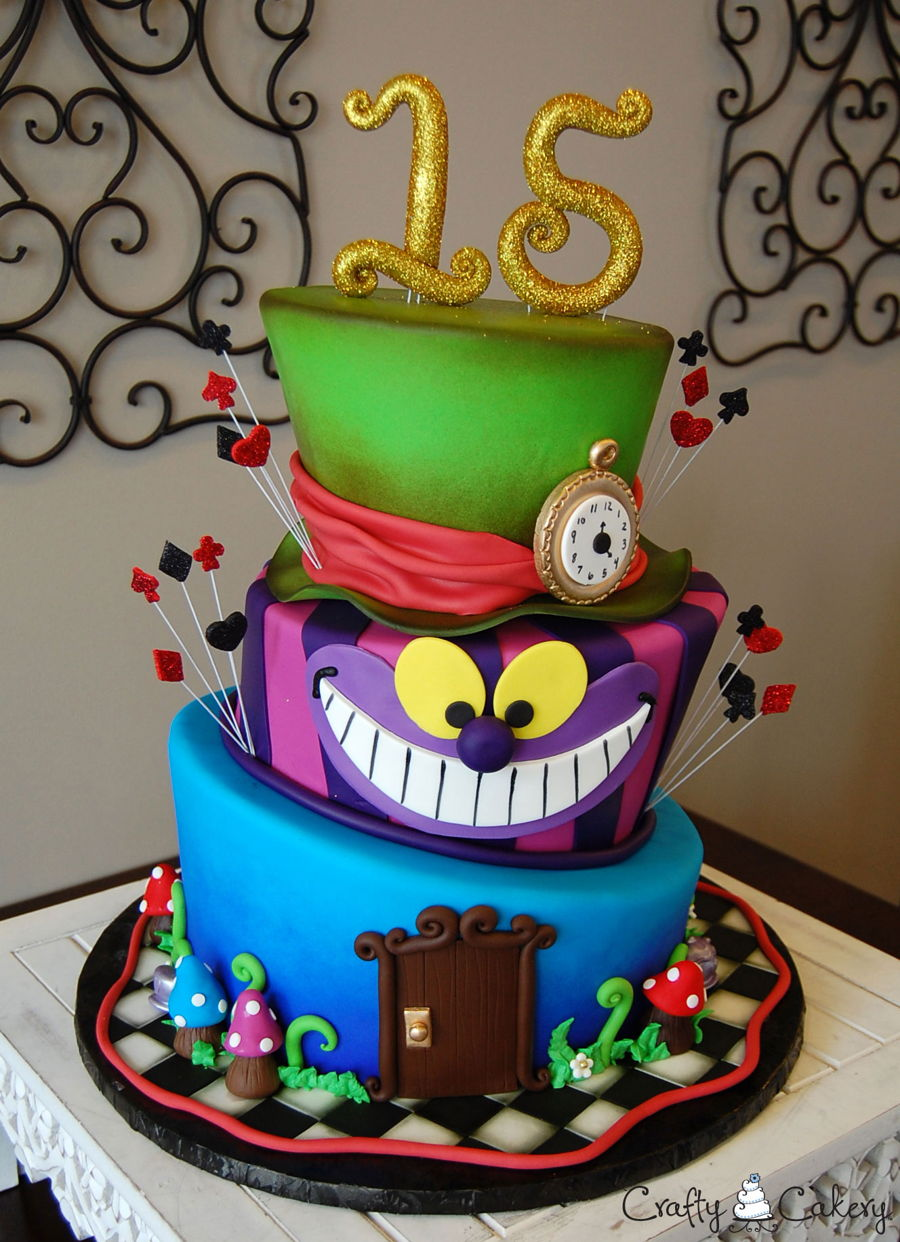 Alice In Wonderland Quinceanera Cakecentral Com