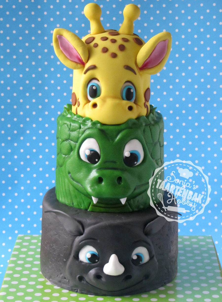 Big Jungle Animals Cakecentral Com