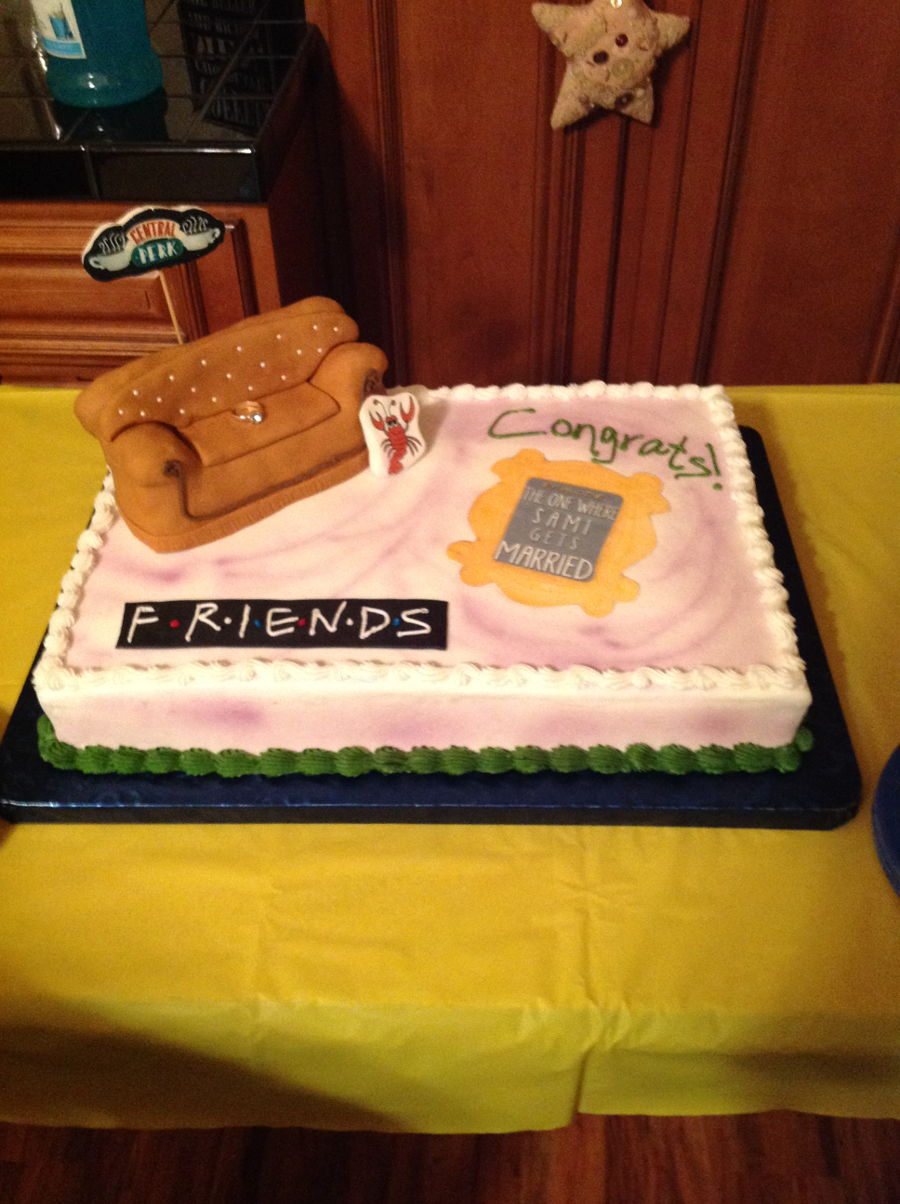 bridal shower cake friends theme on cake central