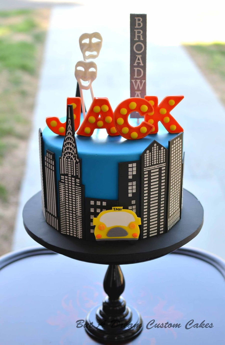 Broadway Themed Birthday Cake Cakecentral Com