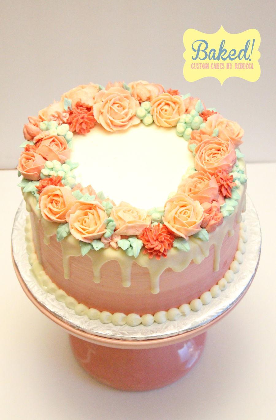 Buttercream Floral Wreath Cake Cakecentral Com