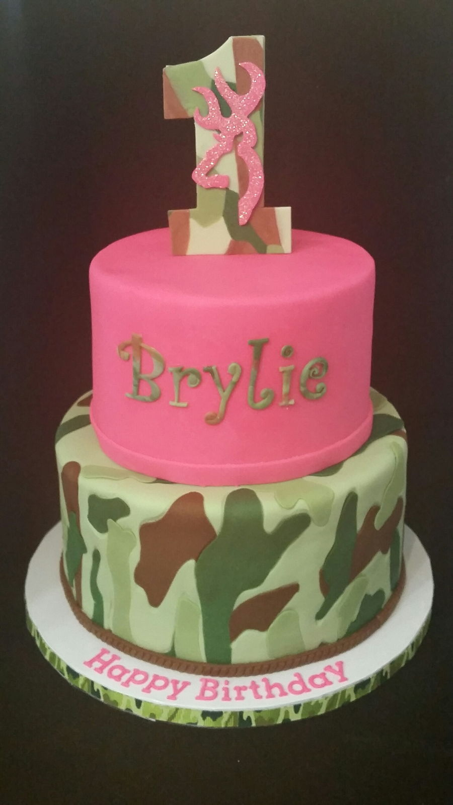 Outstanding Camouflage 1St Birthday Cakecentral Com Funny Birthday Cards Online Overcheapnameinfo