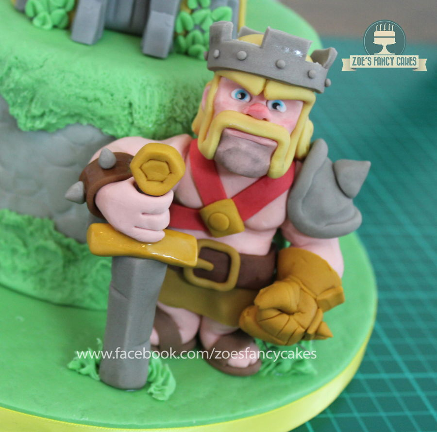 Clash Of Clans Barbarian King Cake Topper Cakecentral Com