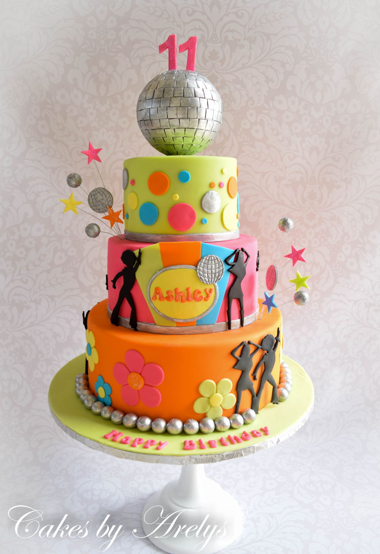 disco dance birthday cake   cakecentral