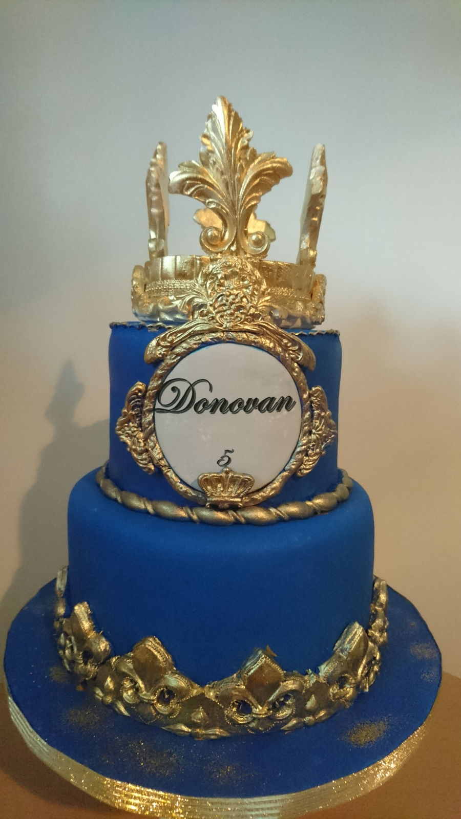 wedding cakes royal blue and gold donovan cake royal cake blue and gold cakecentral 25398
