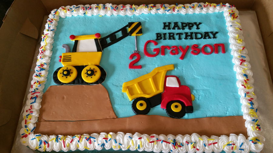 Awesome Dump Truck Birthday Cake Cakecentral Com Funny Birthday Cards Online Fluifree Goldxyz
