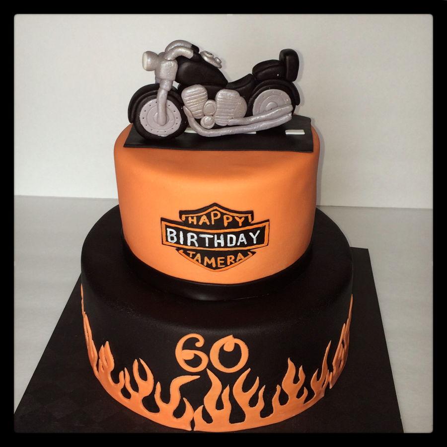 Harley Davidson Motorcycle Birthday Cake - CakeCentral.com