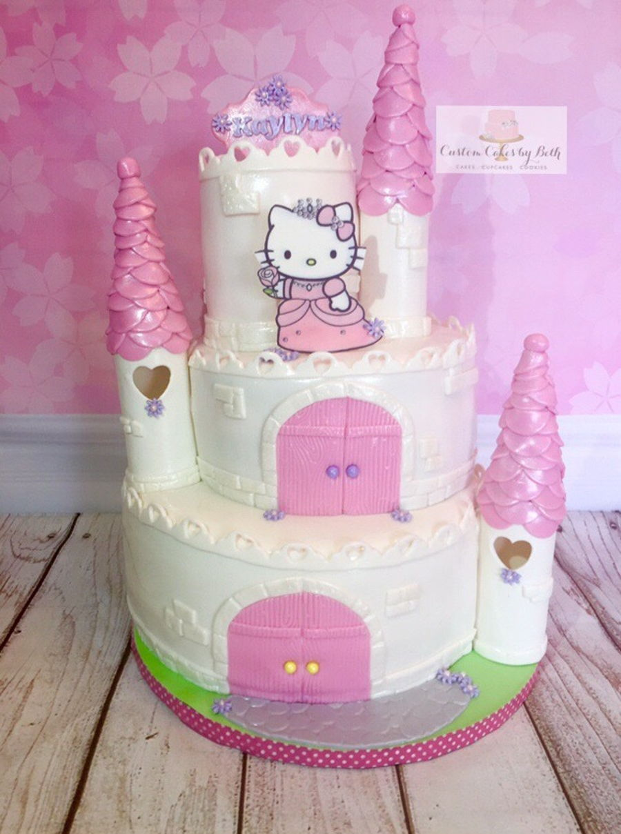 Hello Kitty Princess Castle Cake - CakeCentral.com