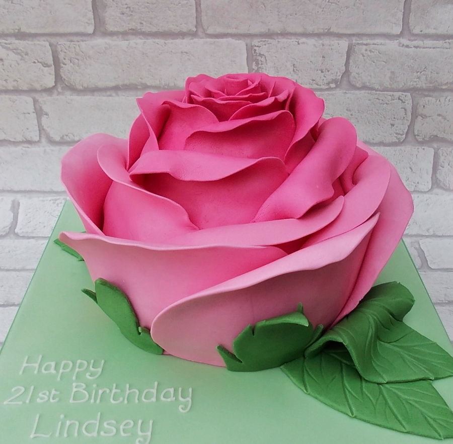 Huge Rose Cake. on Cake Central