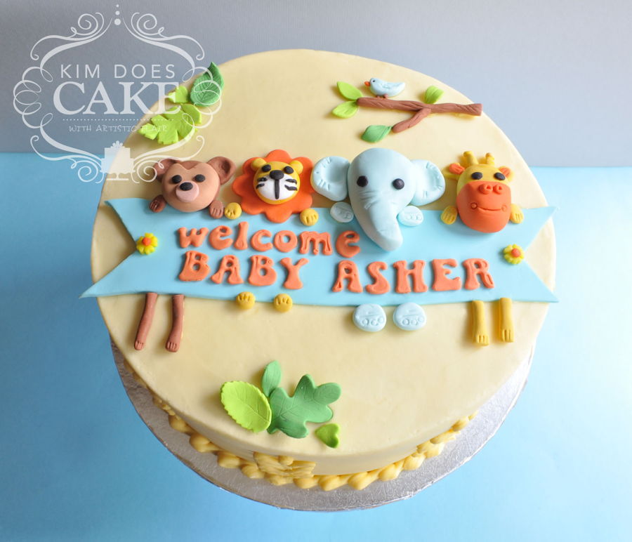 Baby Shower Cakes Jungle Animals ~ Jungle animal baby shower cake cakecentral