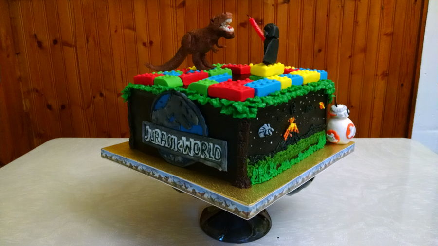 Lego Jurassic World Cake Images : Jurassic World, Legos, & Star Wars For Cameron 2016 ...