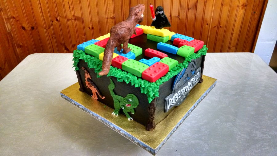 Lego Dinosaur Cake