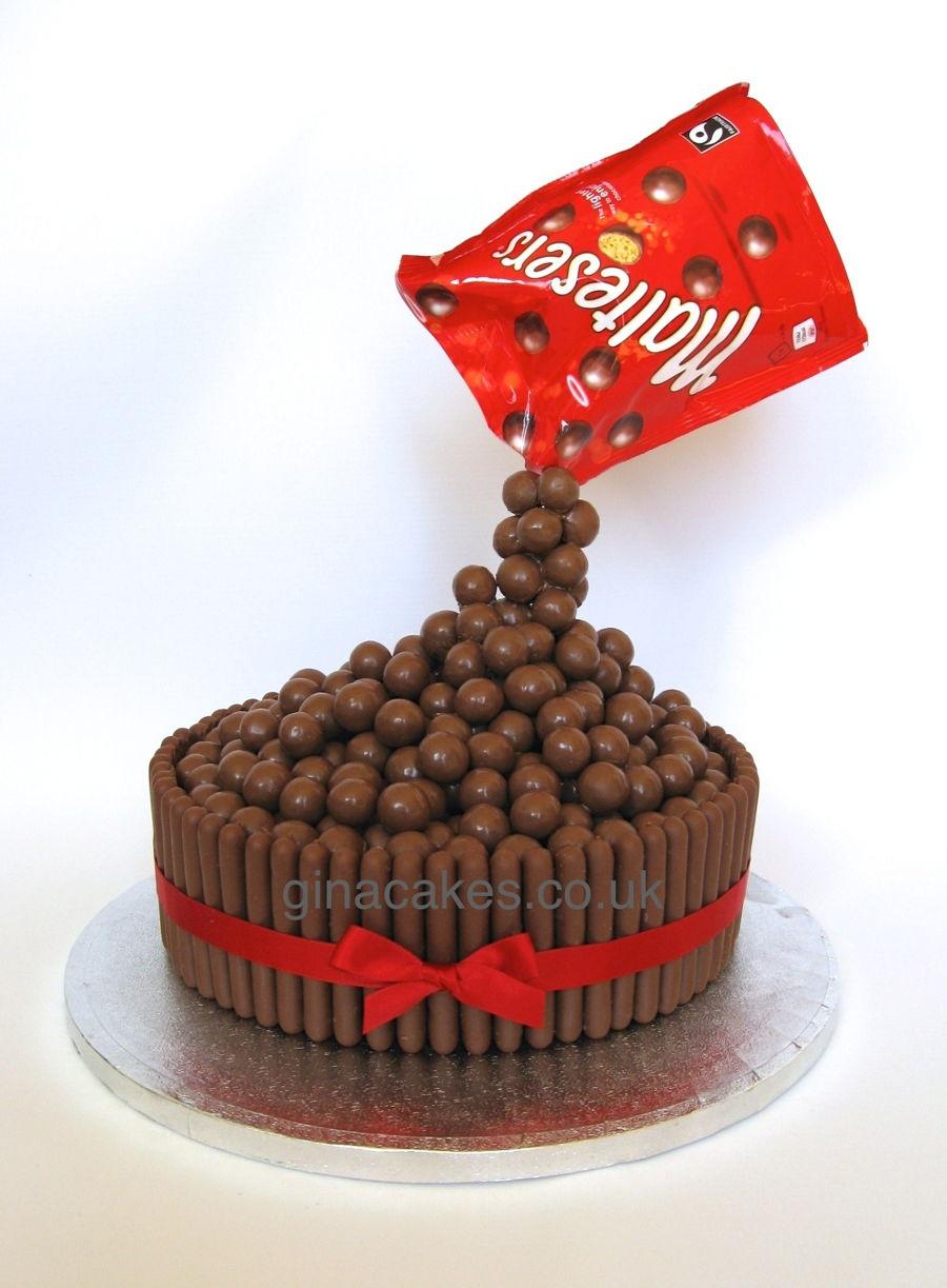 How To Make Malteser Gravity Cake
