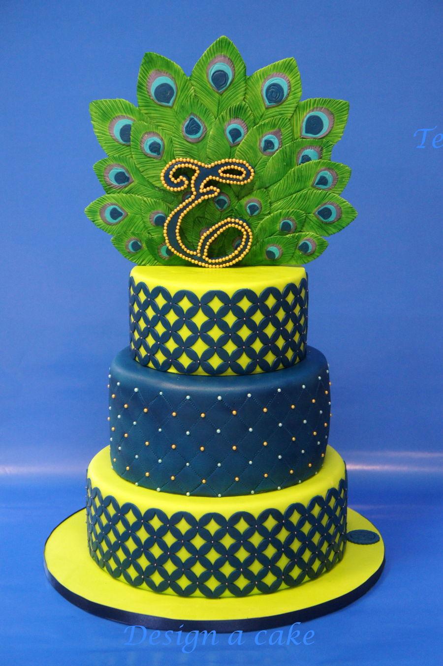 Admirable Peacock Birthday Cake Cakecentral Com Personalised Birthday Cards Veneteletsinfo
