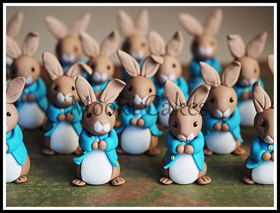 Peter Rabbit Cupcake Toppers - CakeCentral.com