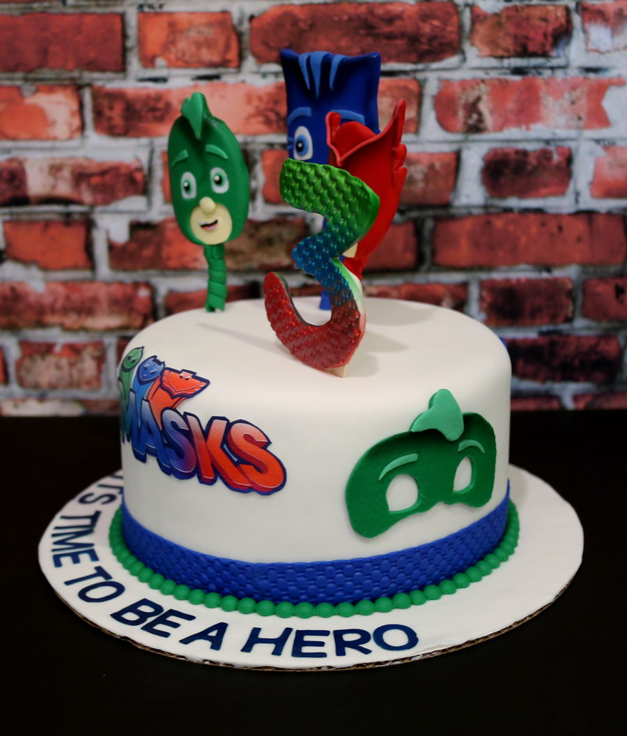 Pj Masks Birthday Cake Uk