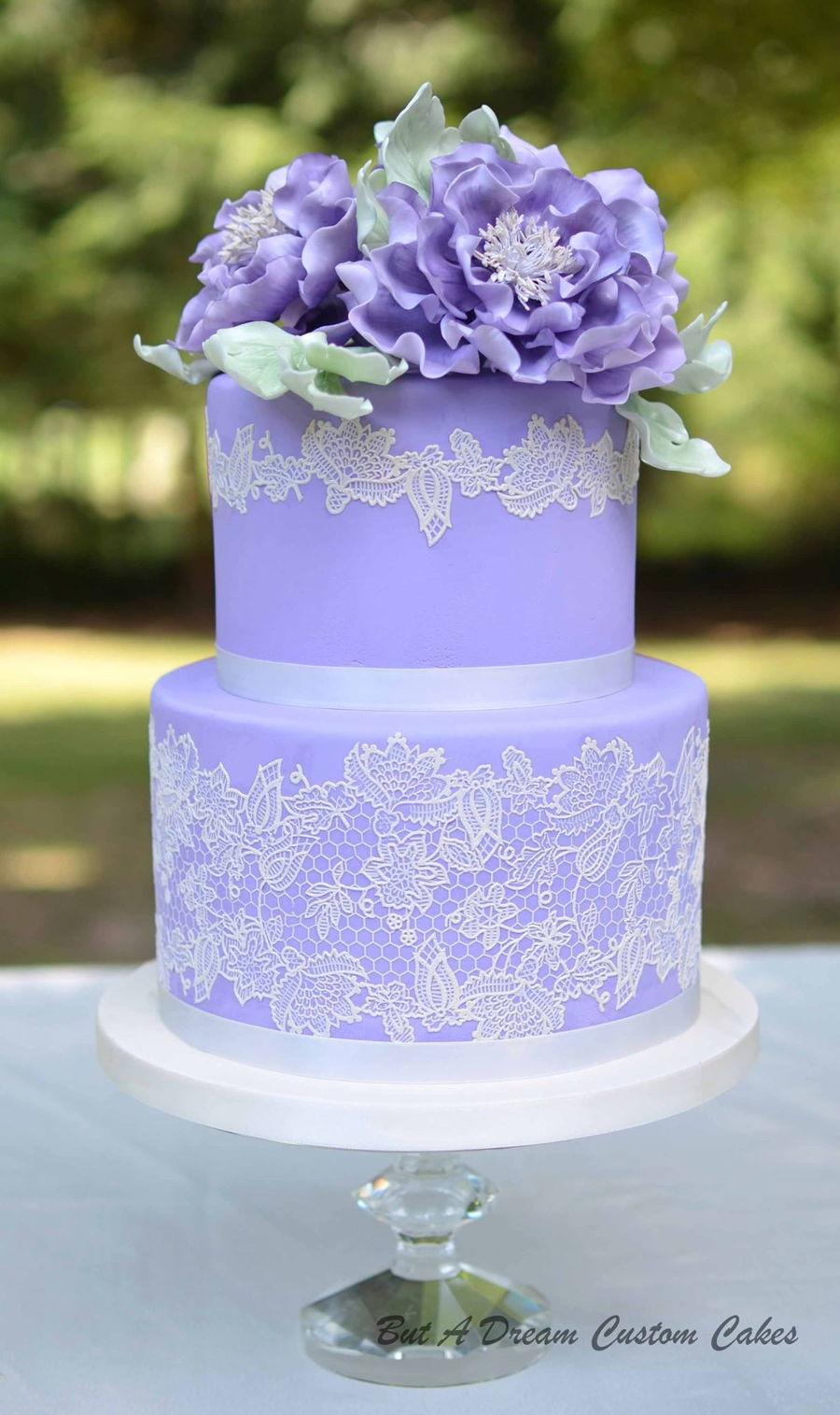 Purple Colour Cake Images : Purple Wedding Cake - CakeCentral.com