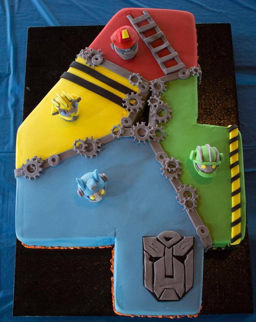 Fantastic Rescue Bots Cake Cakecentral Com Funny Birthday Cards Online Alyptdamsfinfo