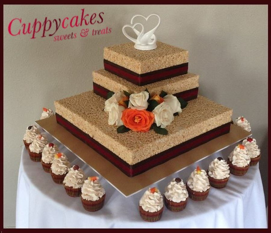 rice krispies treat wedding cake. Black Bedroom Furniture Sets. Home Design Ideas