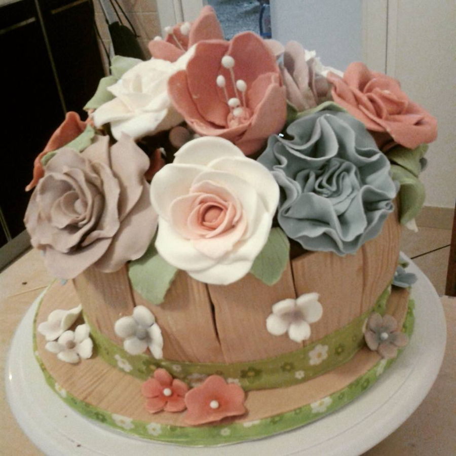 Rosalba Birthday Cake Sugar Paste Flowers Cakecentral Com