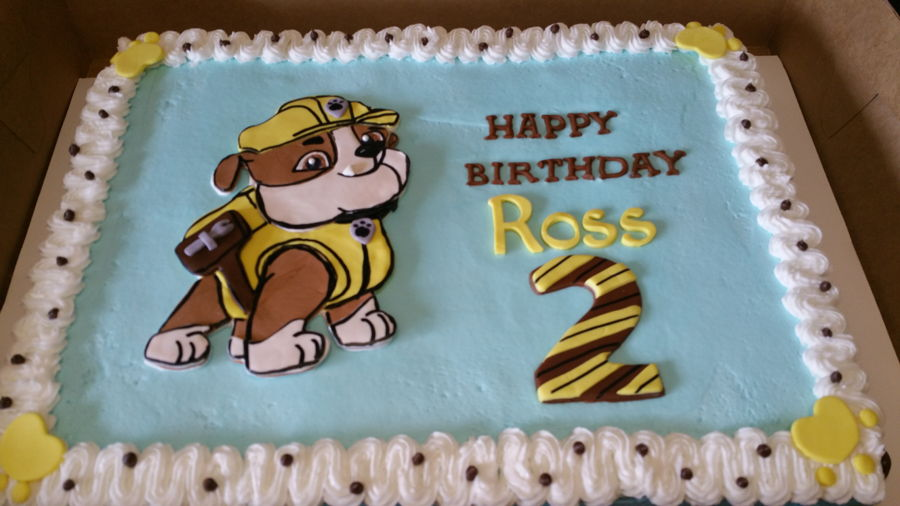 Rubble Paw Patrol Birthday Cake Cakecentral Com