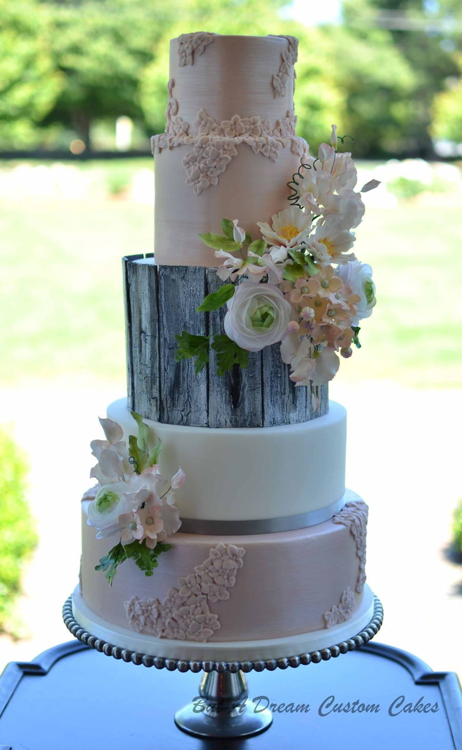 glamour wedding cakes rustic glam wedding cake cakecentral 14714