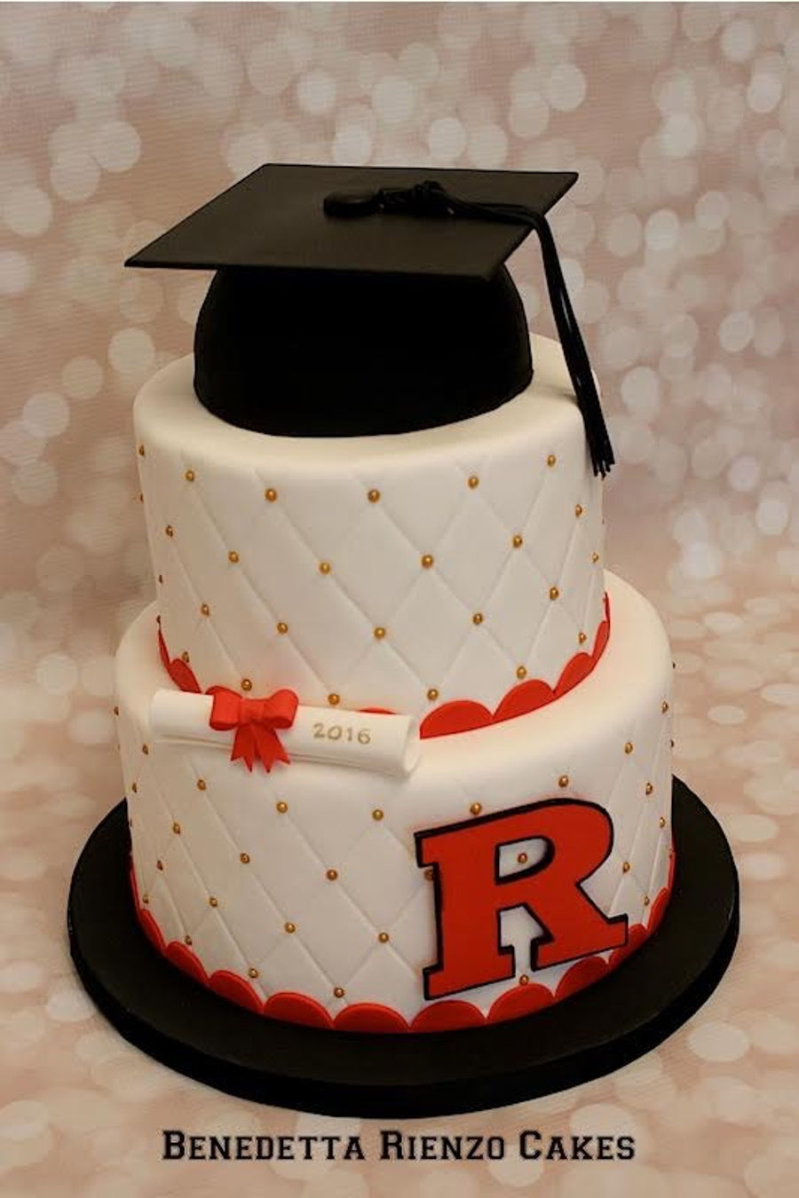 Rutgers Graduation Cake on Cake Central