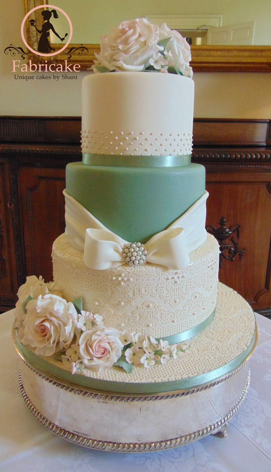 Sage Green Wedding Cake Cakecentral Com