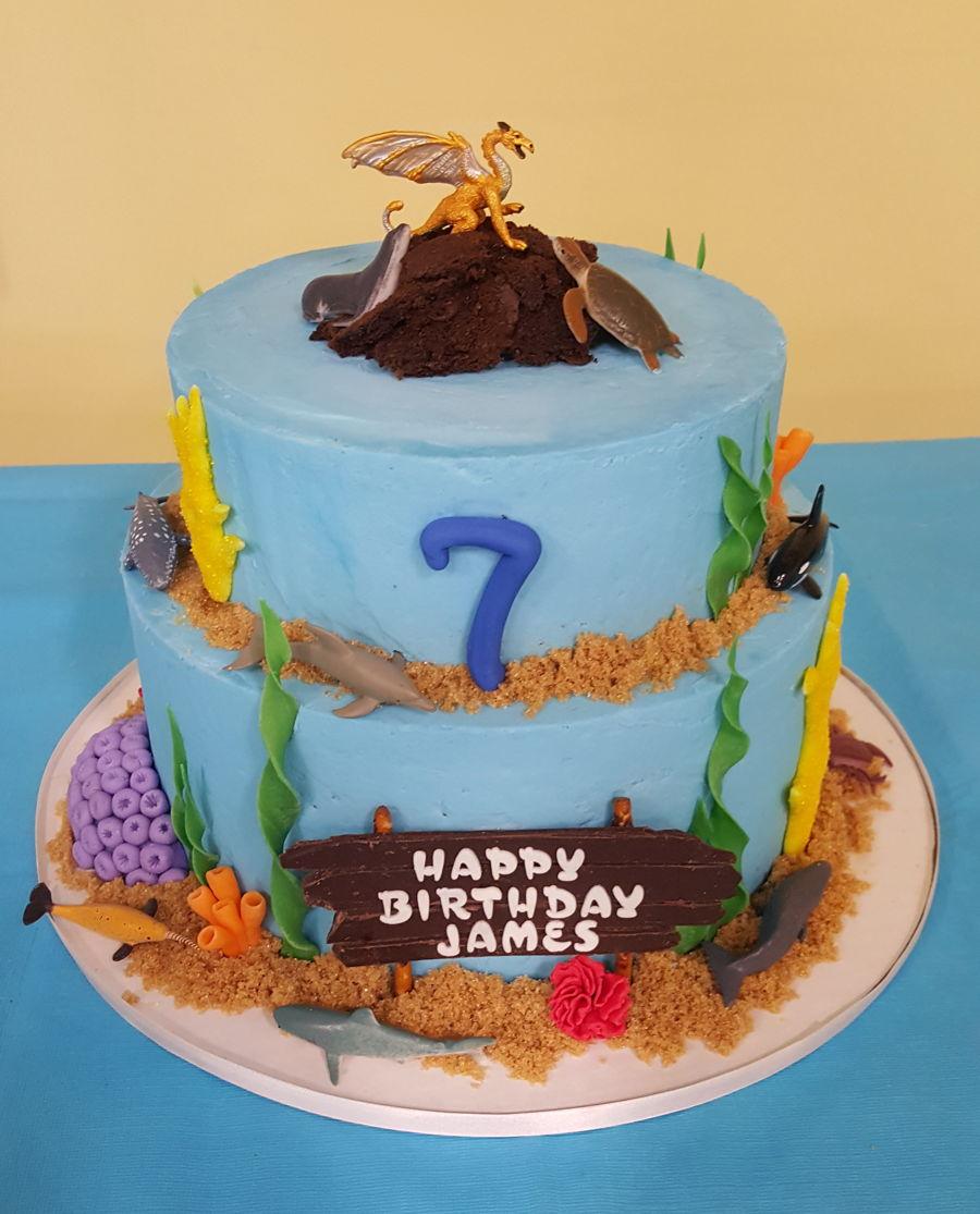 Sea Aquarium Birthday Cake Cakecentral
