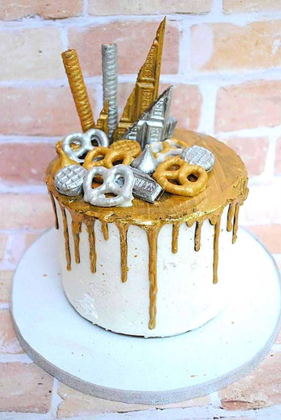 Gold Candies Cake Decorating