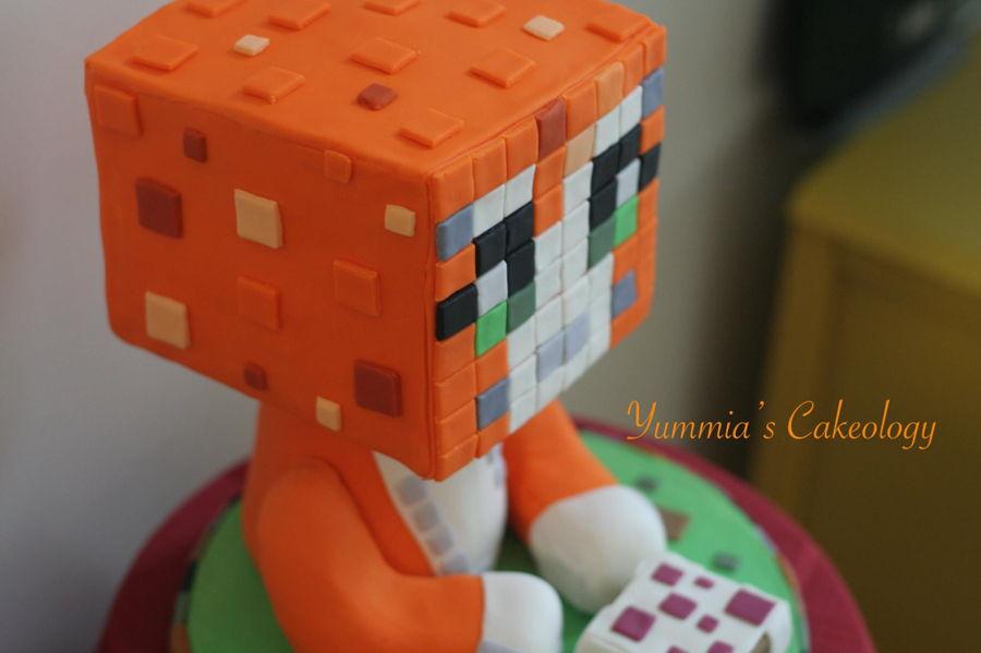 Stampy Cat Minecraft Cake Cakecentral Com